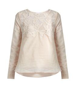 See By Chloe | Lace-Yoke Cotton Top