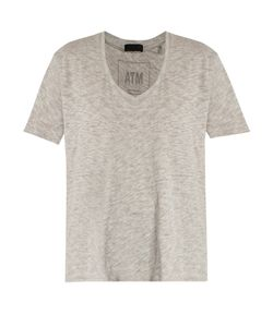 ATM | Deep V-Neck Cotton-Blend T-Shirt