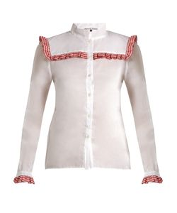 Jupe By Jackie | Americano Embroidered Cotton-Organdy Shirt
