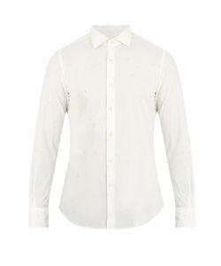 Glanshirt | Spread-Collar Speckled Cotton Shirt