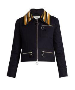 WALES BONNER | Crochet-Collar Denim Jacket