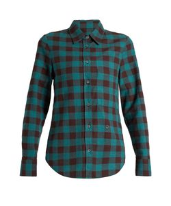 Golden Goose | Helena Point-Collar Checked Cotton Shirt