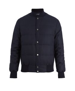 Thom Sweeney | Wool-Blend Quilted Down Bomber Jacket