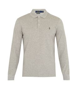 Polo Ralph Lauren | Long-Sleeved Slim-Fit Piqué Polo Shirt