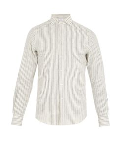 Boglioli | Regular-Fit Single-Cuff Striped Cotton Shirt