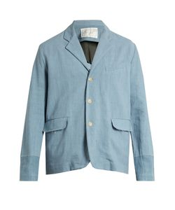 BY WALID | Edward Single-Breasted Antique-Linen Jacket