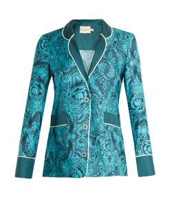 Mary Katrantzou | Tarot Dragon-Print Silk-Twill Jacket
