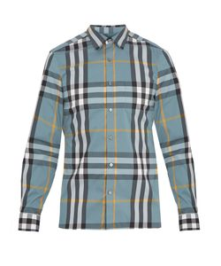 Burberry | Nelson Single-Cuff Cotton-Blend Shirt