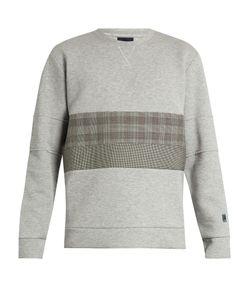 Lanvin | Checked-Panel Technical-Jersey Sweatshirt