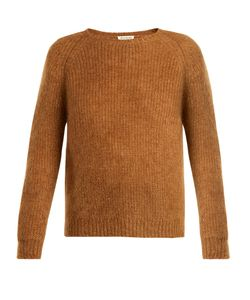 Masscob | Round-Neck Raglan-Sleeve Mohair-Blend Sweater