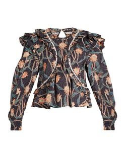 Isabel Marant | Uster Print Ruffled Cotton Top