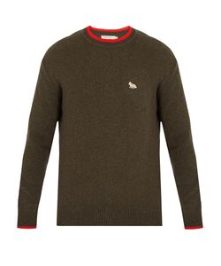 Maison Kitsune | Fox-Appliqué Wool Sweater