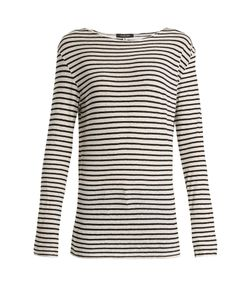 R13 | Cotton-Jersey Striped Top