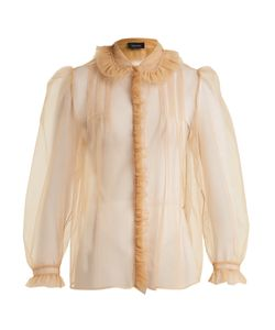Simone Rocha | Feather-Embellished Tulle Blouse