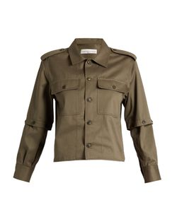 Golden Goose | Tina Detachable-Sleeve Cotton-Twill Shirt