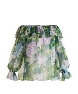 Dolce & Gabbana | Ortensia-Print Silk-Chiffon Top
