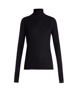 RAEY | Roll-Neck Ribbed Fine-Knit Cashmere Sweater