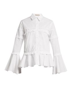Preen Line | Suki Ruffle-Trimmed Cotton Shirt