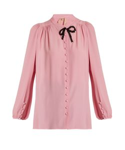 No. 21 | Bead-Embellished Crepe De Chine Blouse