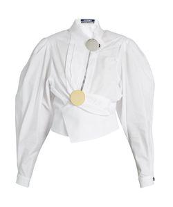 JACQUEMUS | Gigot-Sleeve Wrap Cotton Blouse