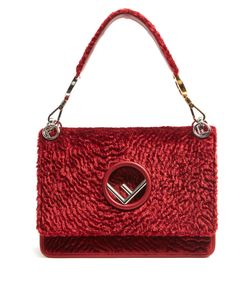 Fendi | Kan I Logo Textured Shoulder Bag