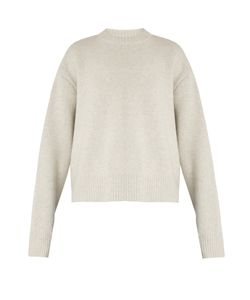 RAEY | Displaced-Sleeve Cropped Wool Sweater