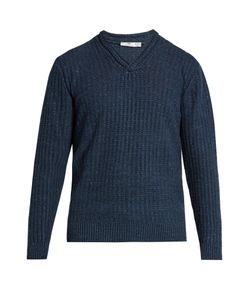 INIS MEÁIN | V-Neck Linen And Silk-Blend Sweater