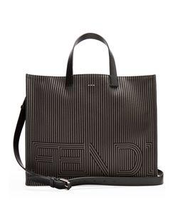 Fendi | Leather-Trimmed Striped Tote
