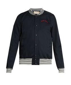 Maison Kitsune | Embroidered-Detail Cotton Bomber Jacket