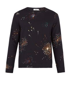 Valentino | Firework-Print Crew-Neck Cotton-Blend Sweatshirt