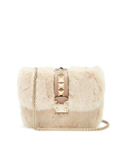 Valentino | Lock Small Mink-Fur Shoulder Bag