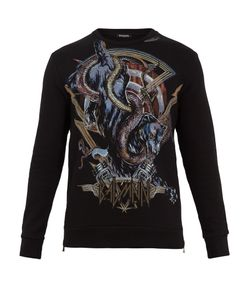 Balmain | Panther And Snake-Print Cotton-Jersey Sweatshirt