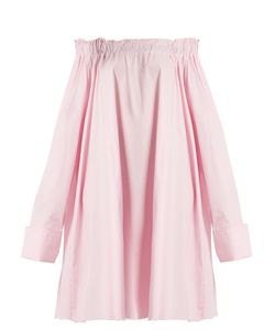 Marques Almeida | Off-The-Shoulder Cotton Shirtdress