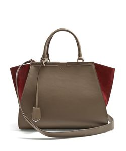 Fendi | 3jours Contrast-Panel Leather And Suede Tote