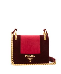 Prada | Pattine Velvet Shoulder Bag