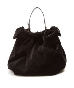 Simone Rocha | Double-Knot Velvet Shoulder Bag