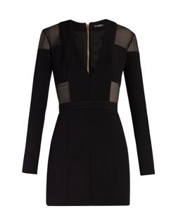 Balmain | Mesh-Insert Mini Dress