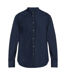 HELBERS | Band-Collar Poplin Shirt