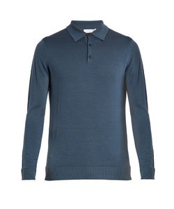 Sunspel | Long-Sleeved Wool Polo Shirt