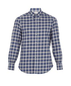 Brunello Cucinelli | Checked Single-Cuff Cotton-Flannel Shirt