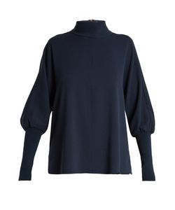 Tibi | Savanna High-Neck Crepe Top