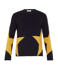 Valentino | Star-Intarsia Wool And Cashmere-Blend Sweater