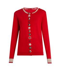 Fendi | Flower-Button Cashmere-Blend Cardigan