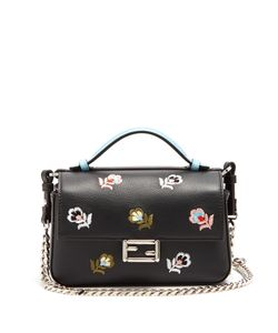 Fendi | Micro Baguette Embroidered Leather Cross-Body Bag