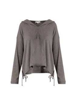 Skin   Ribbed Stretch-Cotton Hooded Top
