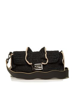 Fendi | Baguette Wave Raffia Cross-Body Bag