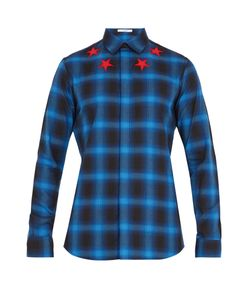 Givenchy | Star-Appliqué Checked-Flannel Shirt