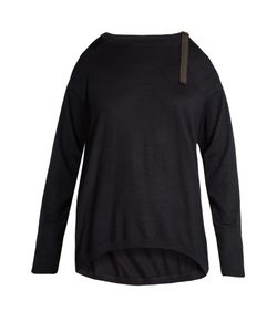 Brunello Cucinelli | Cut-Out Shoulder Cashmere-Blend Sweater