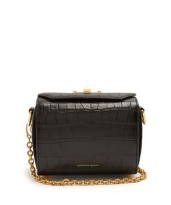 Alexander McQueen | Box 19 Crocodile-Effect Cross-Body Bag