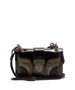 Bottega Veneta | Darling Contrast-Panel Patent-Leather Shoulder Bag